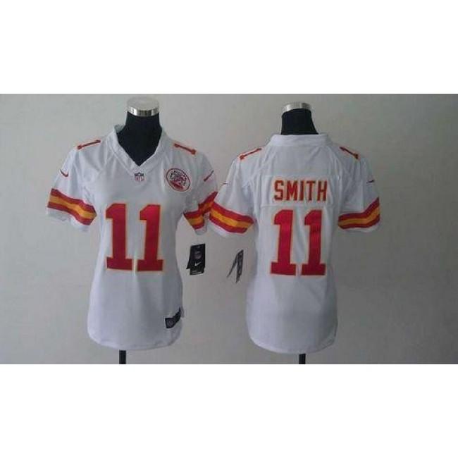 Women's Chiefs #11 Alex Smith White Stitched NFL Elite Jersey