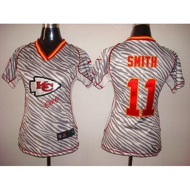 Women's Chiefs #11 Alex Smith Zebra Stitched NFL Elite Jersey