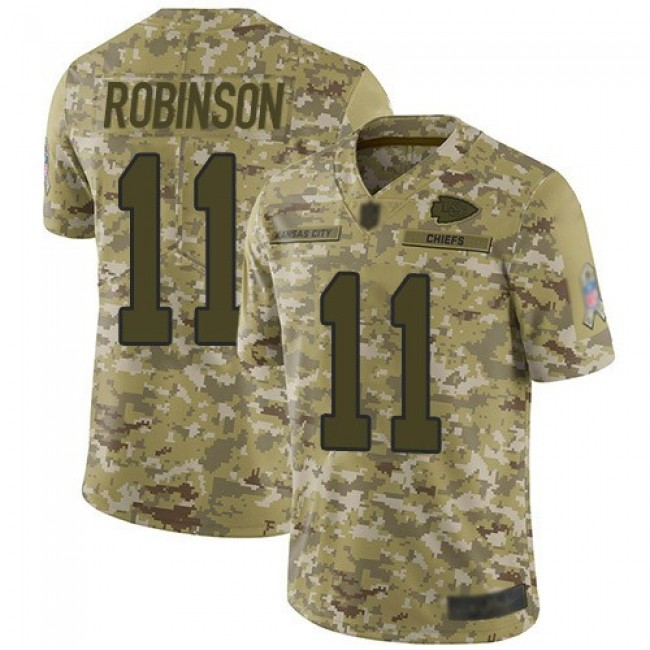Nike Chiefs #11 Demarcus Robinson Camo Men's Stitched NFL Limited 2018 Salute To Service Jersey