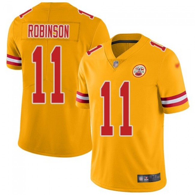 Nike Chiefs #11 Demarcus Robinson Gold Men's Stitched NFL Limited Inverted Legend Jersey