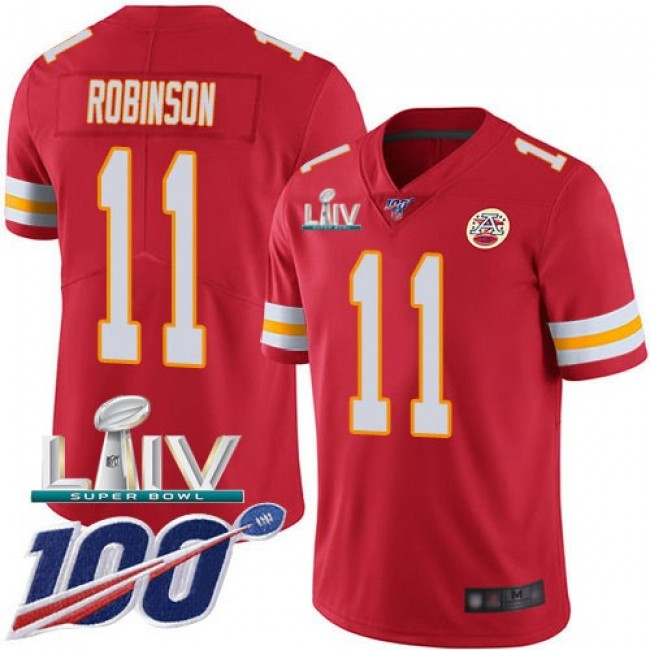 Nike Chiefs #11 Demarcus Robinson Red Super Bowl LIV 2020 Team Color Men's Stitched NFL 100th Season Vapor Untouchable Limited Jersey