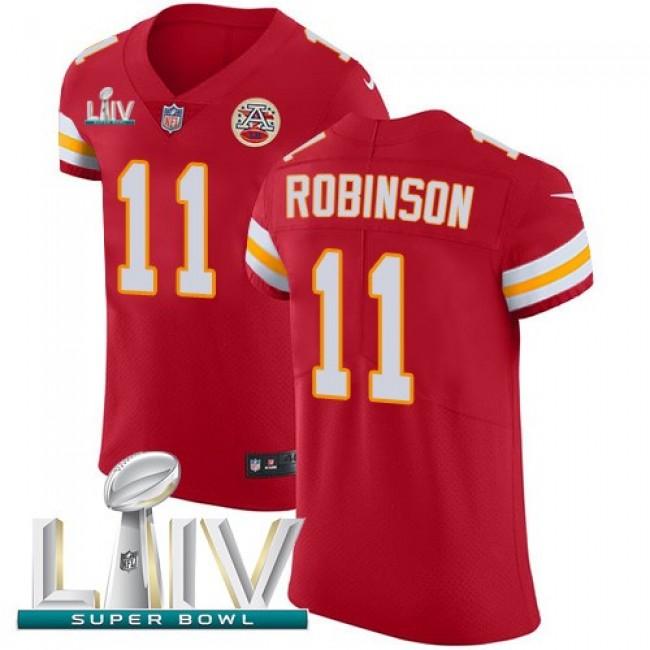 Nike Chiefs #11 Demarcus Robinson Red Super Bowl LIV 2020 Team Color Men's Stitched NFL Vapor Untouchable Elite Jersey