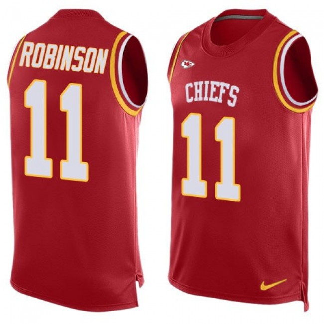 Nike Chiefs #11 Demarcus Robinson Red Team Color Men's Stitched NFL Limited Tank Top Jersey