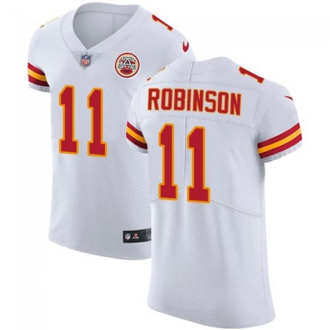 Nike Chiefs #11 Demarcus Robinson White Men's Stitched NFL Vapor Untouchable Elite Jersey