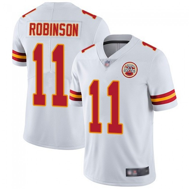 Nike Chiefs #11 Demarcus Robinson White Men's Stitched NFL Vapor Untouchable Limited Jersey