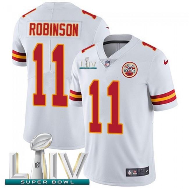 Nike Chiefs #11 Demarcus Robinson White Super Bowl LIV 2020 Men's Stitched NFL Vapor Untouchable Limited Jersey