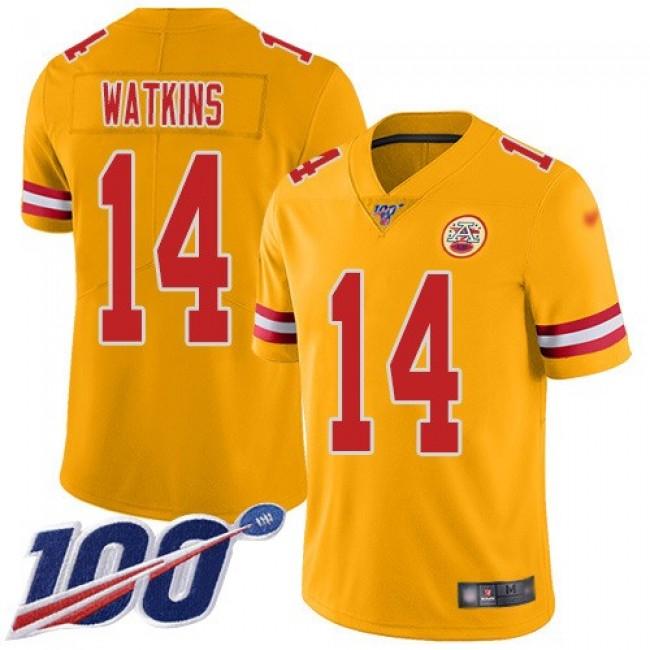 Nike Chiefs #14 Sammy Watkins Gold Men's Stitched NFL Limited Inverted Legend 100th Season Jersey
