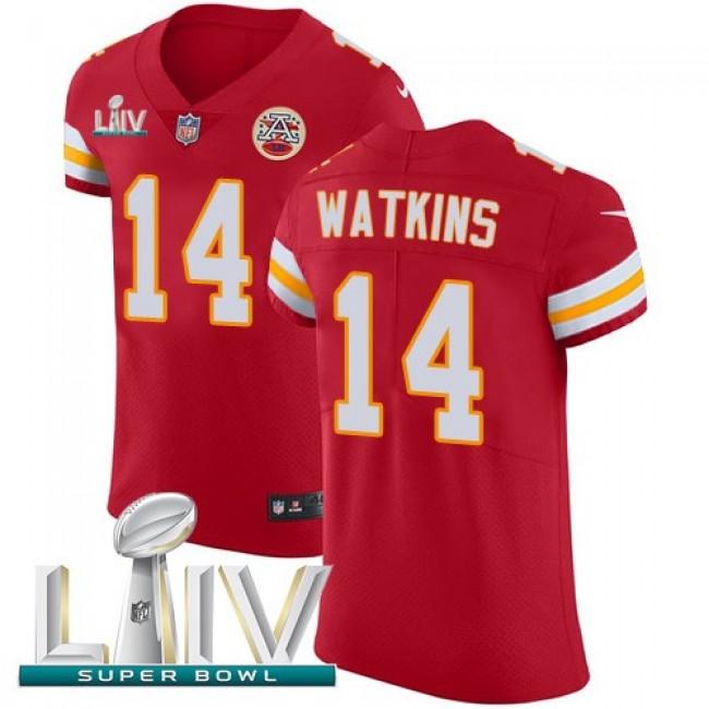 Nike Chiefs #14 Sammy Watkins Red Super Bowl LIV 2020 Team Color Men's Stitched NFL Vapor Untouchable Elite Jersey