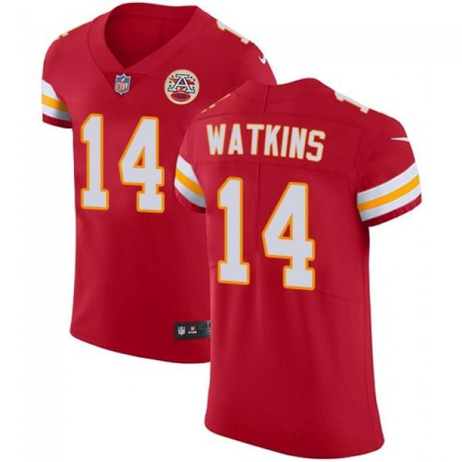 Nike Chiefs #14 Sammy Watkins Red Team Color Men's Stitched NFL Vapor Untouchable Elite Jersey