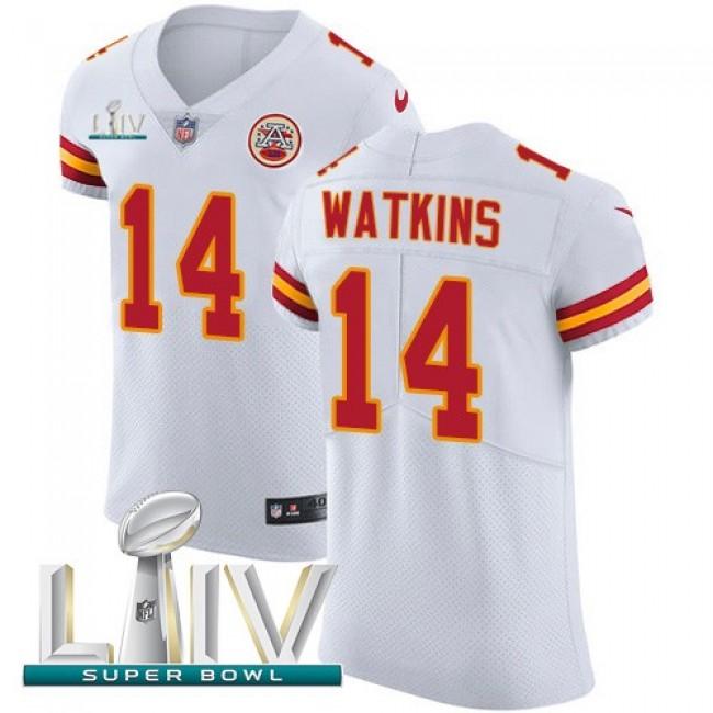 Nike Chiefs #14 Sammy Watkins White Super Bowl LIV 2020 Men's Stitched NFL New Elite Jersey
