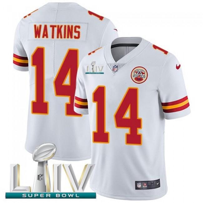 Nike Chiefs #14 Sammy Watkins White Super Bowl LIV 2020 Men's Stitched NFL Vapor Untouchable Limited Jersey