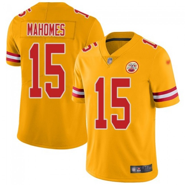 Nike Chiefs #15 Patrick Mahomes Gold Men's Stitched NFL Limited Inverted Legend Jersey