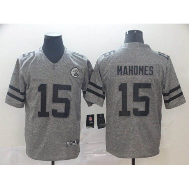 Nike Chiefs #15 Patrick Mahomes Gray Men's Stitched NFL Limited Gridiron Gray Jersey