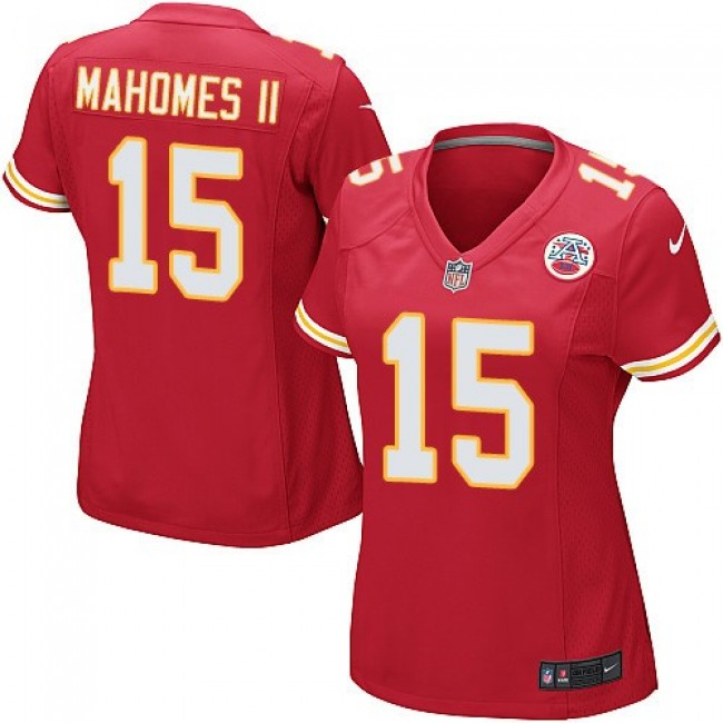 Women's Chiefs #15 Patrick Mahomes II Red Team Color Stitched NFL Elite Jersey