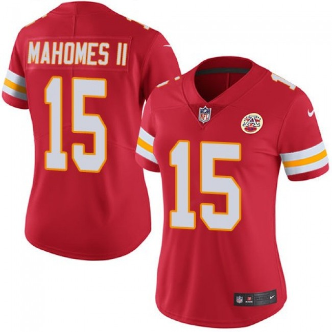 Women's Chiefs #15 Patrick Mahomes II Red Team Color Stitched NFL Vapor Untouchable Limited Jersey