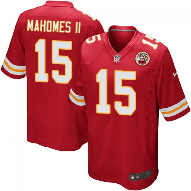 Kansas City Chiefs #15 Patrick Mahomes II Red Team Color Youth Stitched NFL Elite Jersey