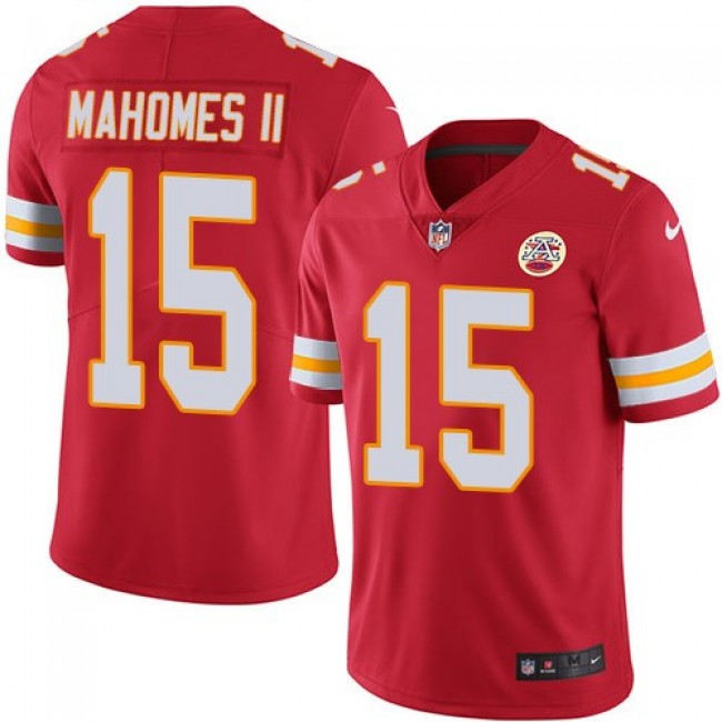 Kansas City Chiefs #15 Patrick Mahomes II Red Team Color Youth Stitched NFL Vapor Untouchable Limited Jersey