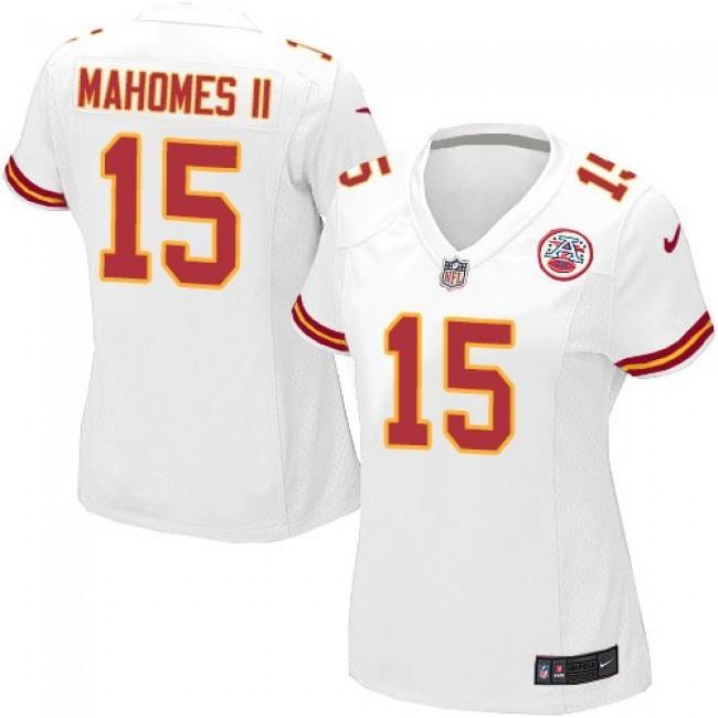 Women's Chiefs #15 Patrick Mahomes II White Stitched NFL Elite Jersey