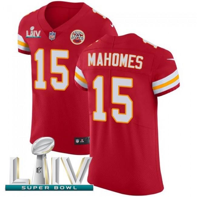 Nike Chiefs #15 Patrick Mahomes Red Super Bowl LIV 2020 Team Color Men's Stitched NFL Vapor Untouchable Elite Jersey