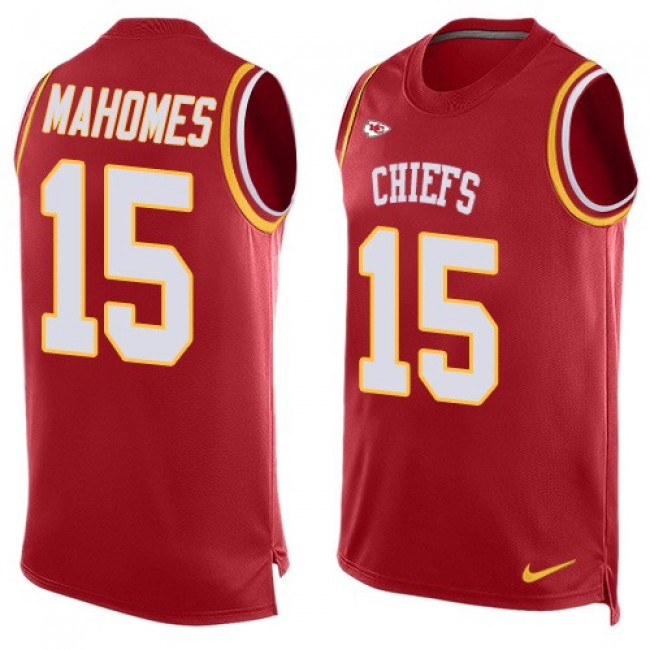 Nike Chiefs #15 Patrick Mahomes Red Team Color Men's Stitched NFL Limited Tank Top Jersey