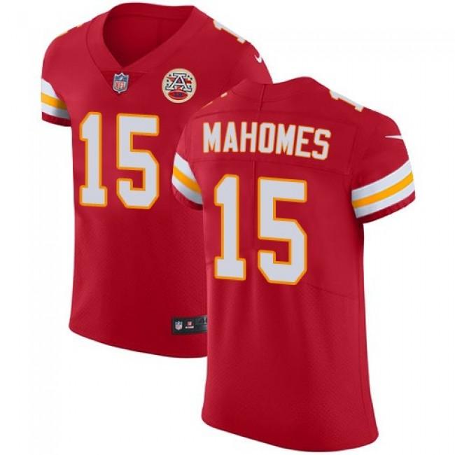 Nike Chiefs #15 Patrick Mahomes Red Team Color Men's Stitched NFL Vapor Untouchable Elite Jersey