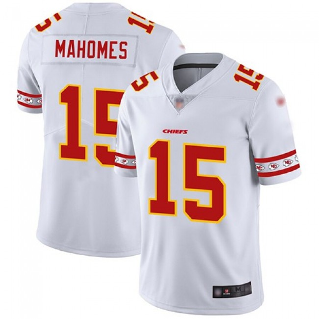 Nike Chiefs #15 Patrick Mahomes White Men's Stitched NFL Limited Team Logo Fashion Jersey