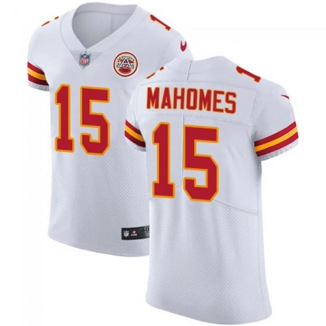 Nike Chiefs #15 Patrick Mahomes White Men's Stitched NFL Vapor Untouchable Elite Jersey