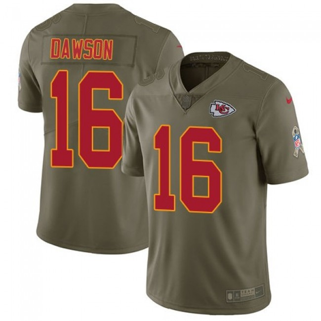 Nike Chiefs #16 Len Dawson Olive Men's Stitched NFL Limited 2017 Salute to Service Jersey
