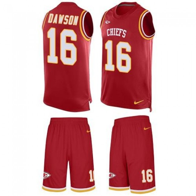 Nike Chiefs #16 Len Dawson Red Team Color Men's Stitched NFL Limited Tank Top Suit Jersey