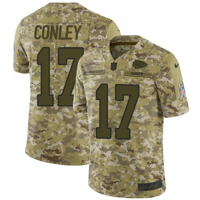 Nike Chiefs #17 Chris Conley Camo Men's Stitched NFL Limited 2018 Salute To Service Jersey