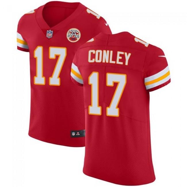 Nike Chiefs #17 Chris Conley Red Team Color Men's Stitched NFL Vapor Untouchable Elite Jersey