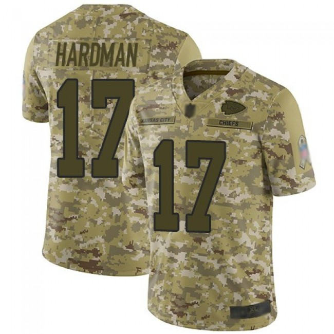 Nike Chiefs #17 Mecole Hardman Camo Men's Stitched NFL Limited 2018 Salute To Service Jersey