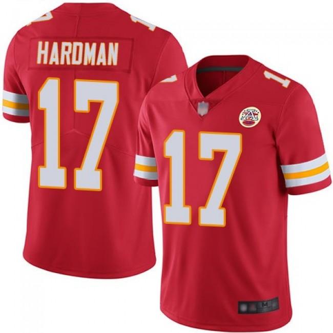 Nike Chiefs #17 Mecole Hardman Red Team Color Men's Stitched NFL Vapor Untouchable Limited Jersey