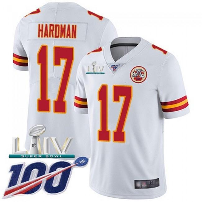 Nike Chiefs #17 Mecole Hardman White Super Bowl LIV 2020 Men's Stitched NFL 100th Season Vapor Untouchable Limited Jersey