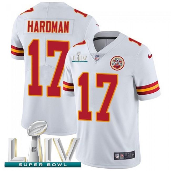 Nike Chiefs #17 Mecole Hardman White Super Bowl LIV 2020 Men's Stitched NFL Vapor Untouchable Limited Jersey