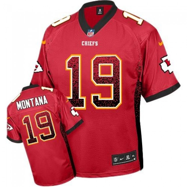 Nike Chiefs #19 Joe Montana Red Team Color Men's Stitched NFL Elite Drift Fashion Jersey