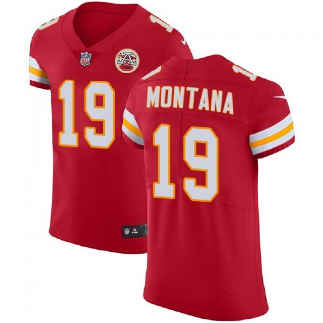 Nike Chiefs #19 Joe Montana Red Team Color Men's Stitched NFL Vapor Untouchable Elite Jersey