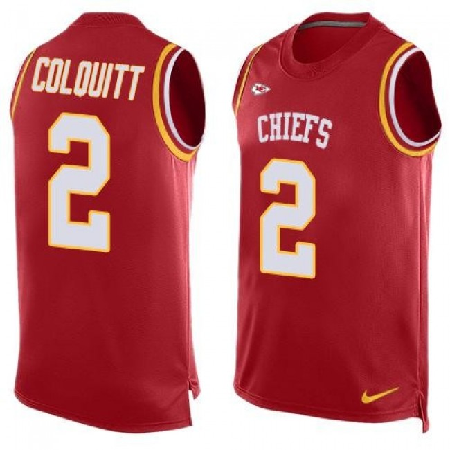 Nike Chiefs #2 Dustin Colquitt Red Team Color Men's Stitched NFL Limited Tank Top Jersey