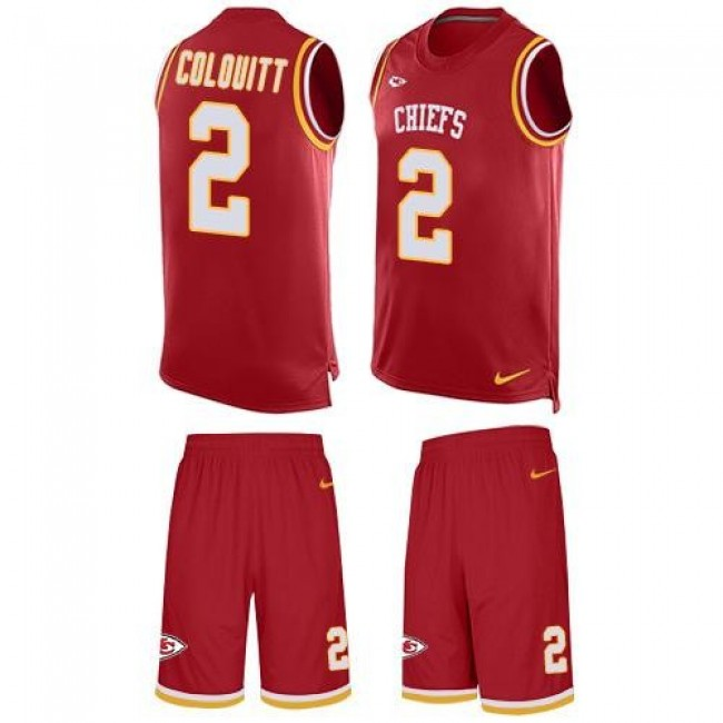 Nike Chiefs #2 Dustin Colquitt Red Team Color Men's Stitched NFL Limited Tank Top Suit Jersey