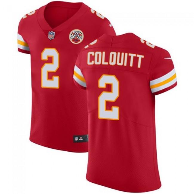 Nike Chiefs #2 Dustin Colquitt Red Team Color Men's Stitched NFL Vapor Untouchable Elite Jersey