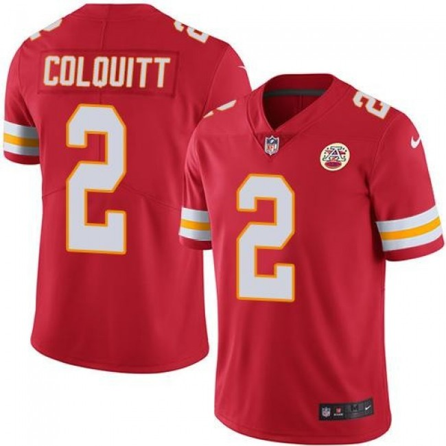 Nike Chiefs #2 Dustin Colquitt Red Team Color Men's Stitched NFL Vapor Untouchable Limited Jersey