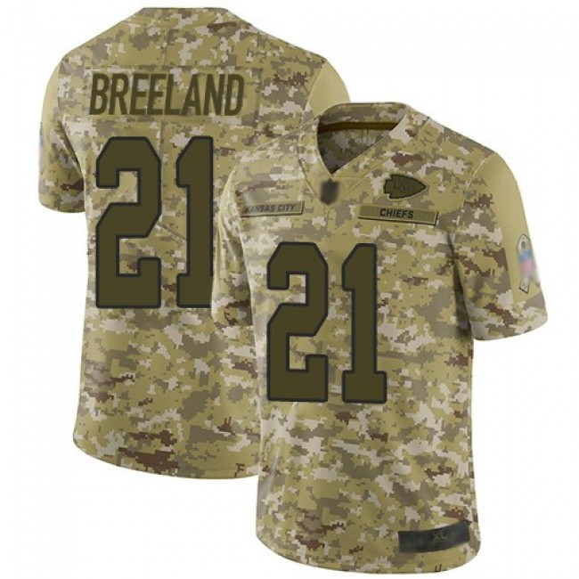 Nike Chiefs #21 Bashaud Breeland Camo Men's Stitched NFL Limited 2018 Salute To Service Jersey