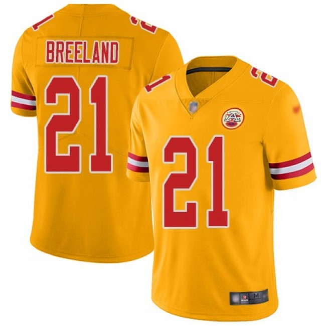 Nike Chiefs #21 Bashaud Breeland Gold Men's Stitched NFL Limited Inverted Legend Jersey