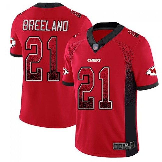 Nike Chiefs #21 Bashaud Breeland Red Team Color Men's Stitched NFL Limited Rush Drift Fashion Jersey
