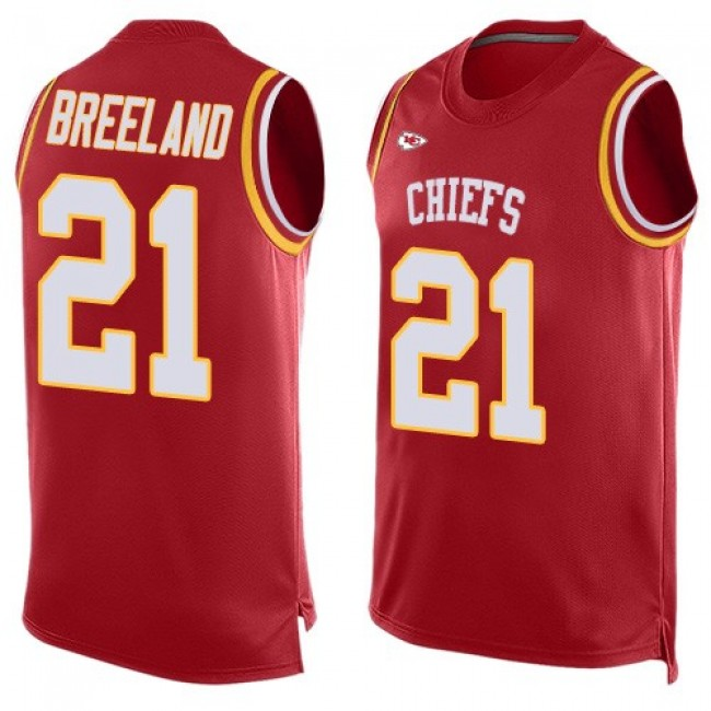 Nike Chiefs #21 Bashaud Breeland Red Team Color Men's Stitched NFL Limited Tank Top Jersey