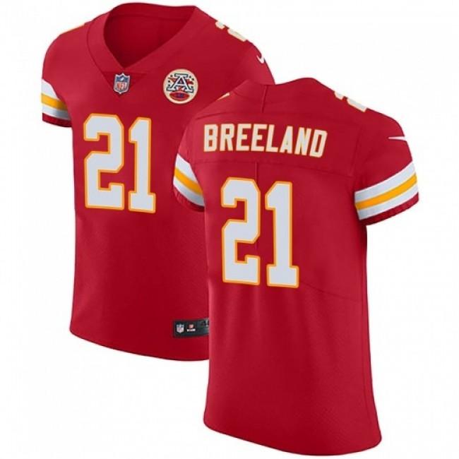 Nike Chiefs #21 Bashaud Breeland Red Team Color Men's Stitched NFL Vapor Untouchable Elite Jersey