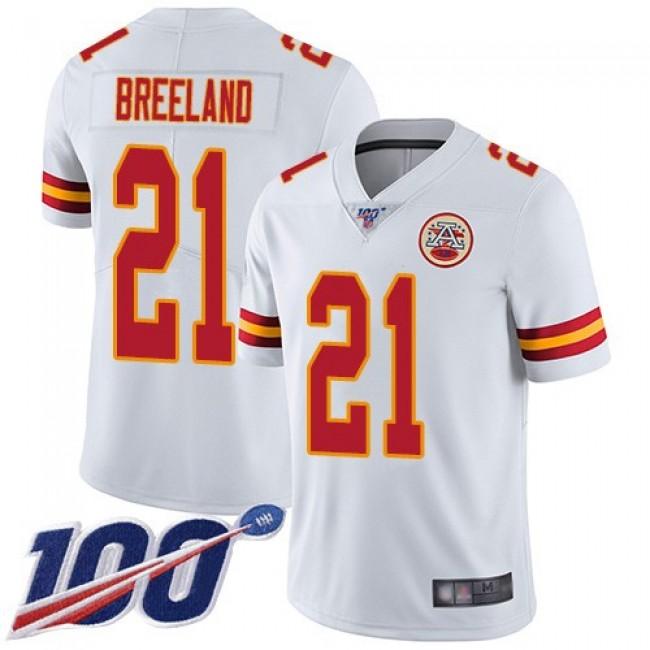 Nike Chiefs #21 Bashaud Breeland White Men's Stitched NFL 100th Season Vapor Limited Jersey