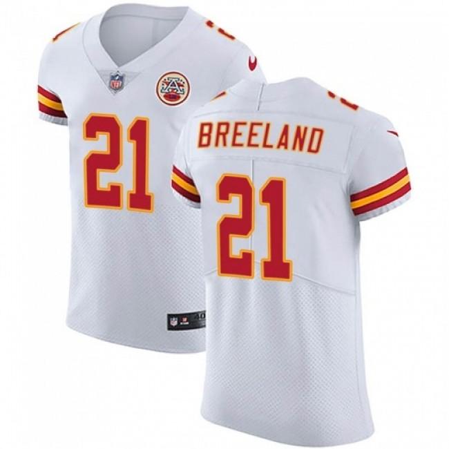 Nike Chiefs #21 Bashaud Breeland White Men's Stitched NFL Vapor Untouchable Elite Jersey