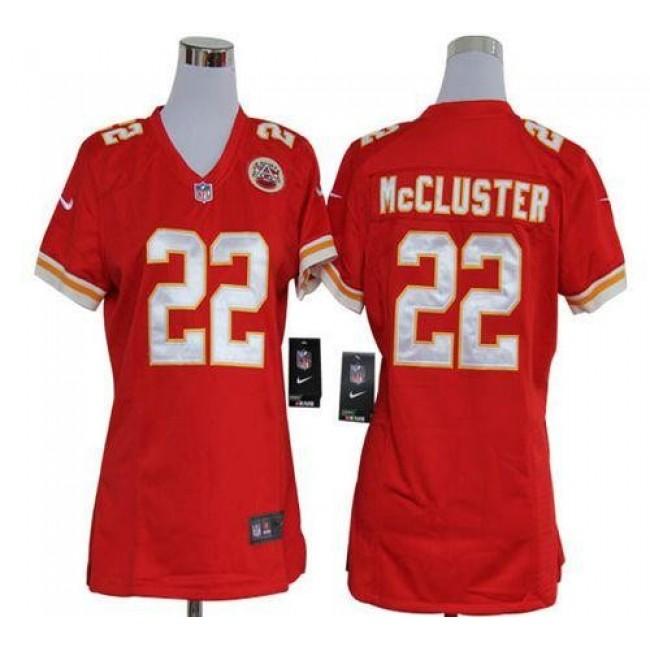 Women's Chiefs #22 Dexter McCluster Red Team Color Stitched NFL Elite Jersey