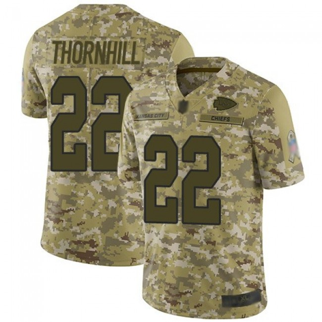 Nike Chiefs #22 Juan Thornhill Camo Men's Stitched NFL Limited 2018 Salute To Service Jersey